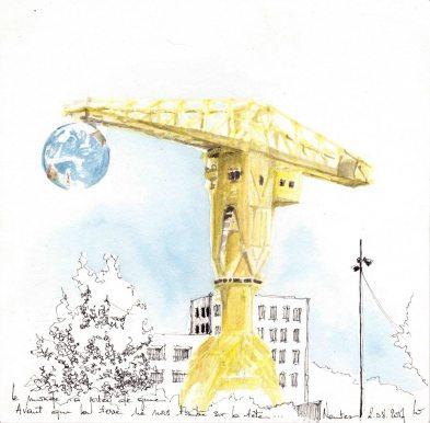 grue jaune